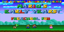 Mario's Early Years: Pre-School